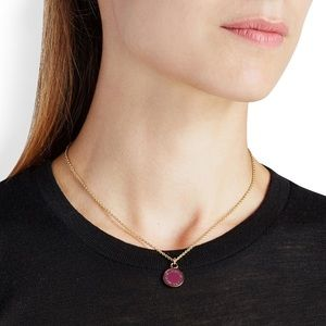 Marc Jacobs Enamel Disc Pendant Necklace